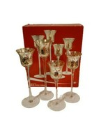 Set of 4 Glass Votive Holders Snowy Starlight  Holiday JCP Home - $15.35