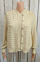 LG Women's Medium St. John Cream Knit Blazer & Tank Set Button Jacket & ... - $93.17