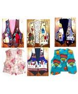 Sz S-M/L - Handmade 100% Cotton Reversible Vests - $15.29