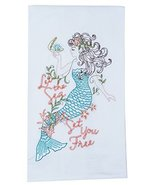 Kay Dee Designs A8556 Mermaid Embroidered Flour Sack Towel - $9.99