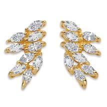 PalmBeach Jewelry 2.70 TCW Cubic Zirconia 14k Gold-Plated Cluster Drop Earrings - $23.99