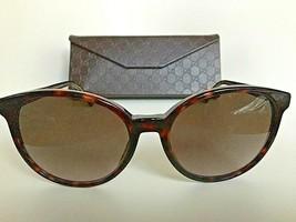 New GUCCI GG 3722/S HNZHA 55mm Tortoise Oversized Women's Sunglasses Italy - $274.99