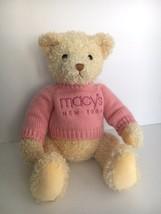 Macy's New York Bear by Gund Plush Stuffed Bear Pink Sweater 2004 - $18.52