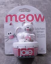 JOIE MEOW KITCHEN TIMER White 60 Minutes NWT NEW - £12.12 GBP