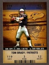 2003 FLEER AUTHENTIX #22 TOM BRADY CARD NEW ENGLAND PATRIOTS - $6.88