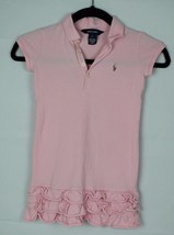 Ralph Lauren youth girls polo shirt dress short sleeve pink cotton size 6 - $12.95