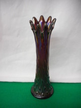 "CARNIVAL GLASS - NORTHWOOD TREE TRUNK   Amethyst 10"" Vase  L@@K! - $75.74"