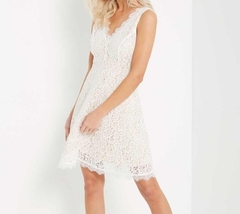 White Lace Dress, Lace Overlay Dress, Short White Dress, Wedding, Graduation image 3