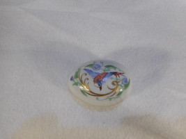 Vintage Limoges Hand Painted Porcelain Egg Trinket Box - $44.50
