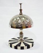 Antique Hotel Counter Desk Bell Ring For Service Ring Bell - Horn & Bone... - $34.40