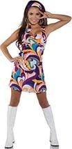 Underwraps Costumes Women's Retro Hippie Costume - Peace, Purple/Orange/... - £31.20 GBP