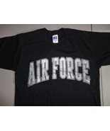 Vintage Black Russell Athletic Air Force Academy Falcons NCAA T Shirt Me... - $22.61