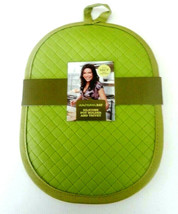 Rachael Ray Silicone Pot Holder & Trivet Green Hang Loop Heat Resistant - $18.59