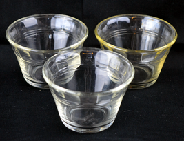A set of Three Clear Glass Desert Cups - $14.84