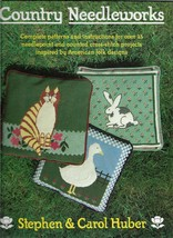 Country Needleworks-Over 25 Needlepoint & Cross Stitch Projects-American... - $7.66