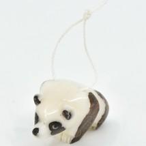 Hand Carved Tagua Nut Carving Small Panda Bear Ornament Handmade in Ecuador image 2