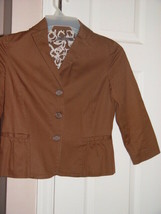 Liz Claiborne Brown Jacket Blazer Size Petite Small With Pockets From Macy's - $35.00