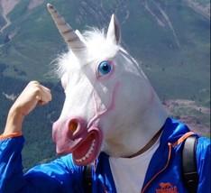 2018 Unicorn Horse Mask Halloween Creepy Party Deluxe Novelty Costume Pa... - £12.98 GBP