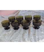 8 Vintage Champagne Tall Sherbet Glasses Franciscan Madeira Olive Green ... - $113.85
