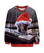 New Fashion Womens/Mens Gremlins christmas Cute Cat Funny 3D Print Crewn... - $58.86