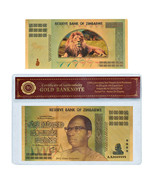 WR Zimbabwe 100 Decillion Dollars Gold Banknote Bill Money Collection In... - $3.99