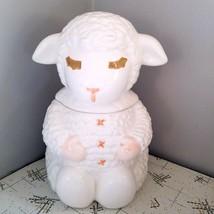 Lamb Chop Puppet Cookie Jar Canister Shari Lewis Dayton Hudsons 1987 RARE  - $89.99