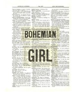 Bohemian Girl Dictionary Art Print Mixed Media Home Decor Wall Art quote003 - $10.99