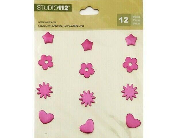 K&Company Studio 112 Pink Metallic Adhesive Gems #30-596184