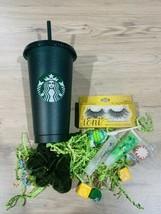 Starbucks Green Glitter cold cup tumbler 24 oz  Liplgoss Bundle - $19.80