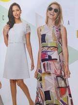 Burda Sewing Pattern 6628 Misses Dress Size 8-18 New - $13.43
