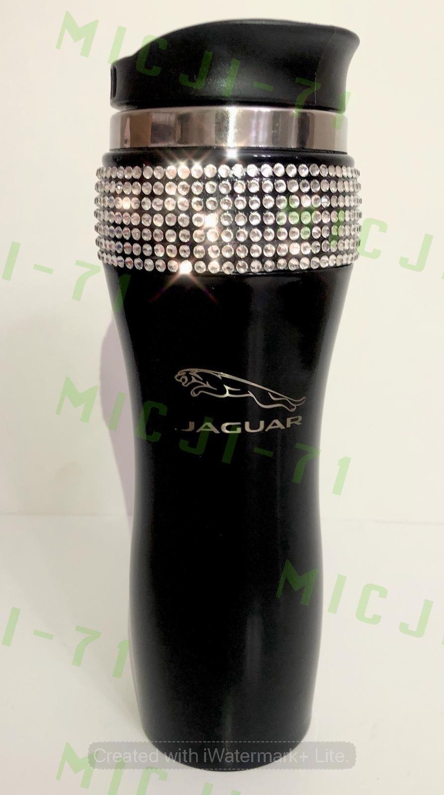 Jaguar (Black) Stainless Steel Thermal Bling Mug Tumbler Cup Travel 14oz Made wi - $29.99