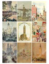 New York Digital Collage Sheet  Clip Art  Scrapbook  atc  JPEG  PDF  Ins... - $2.50