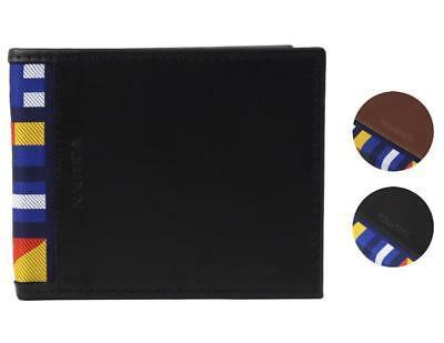 Nautica Men's Genuine Leather Credit Card Id Billfold Rfid Wallet 31NU220028