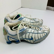 Nike Shox Womens Sz 8 White Blue Silver 316719-143 Athletic Shoes Sneakers - $52.04