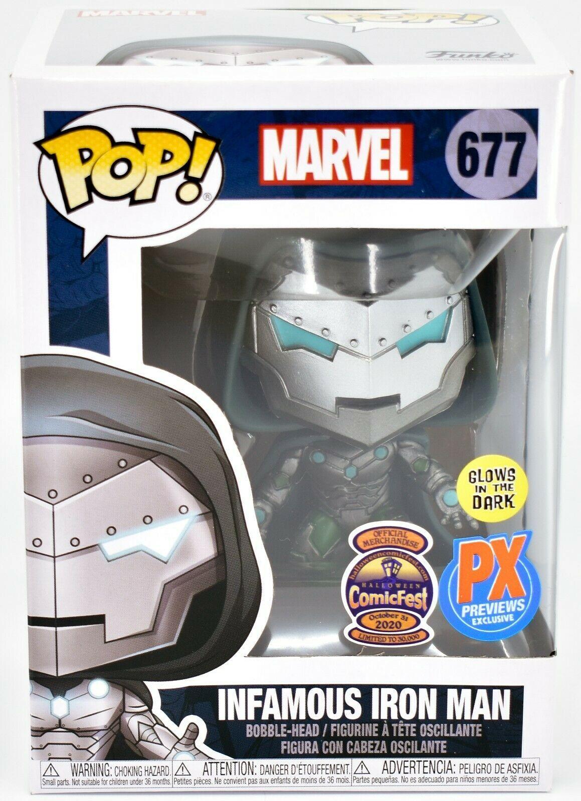 Funko Pop Marvel Infamous Iron Man 677 Halloween ComicFest 2020 PX Exclusive