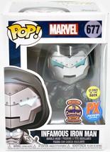 Funko Pop Marvel Infamous Iron Man 677 Halloween ComicFest 2020 PX Exclusive image 1