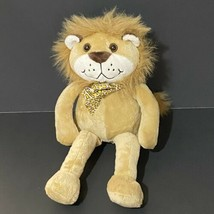 "Animal Alley Smiling Lion Plush 12"" Leopard Print Bow Tie Geoffrey Toys ... - $14.03"