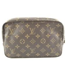 #31921 Louis Vuitton Cosmetic Case Trousse Toilette 23 Pouch Canvas Clutch - £116.34 GBP