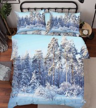 3D Winter Forest Bed Pillowcases Quilt Duvet Cover Set Single Queen King Size AU - $90.04+