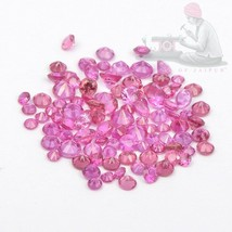 Natural Pink Sapphire 1.30mm Round Faceted Cut Loose Calibrated Size Gem... - $47.54+
