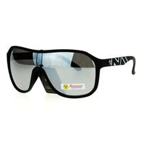 Biohazard Mens Sunglasses Square Shield Matte Frame Silver Mirror Lens - $10.95