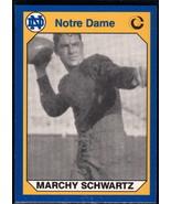 1990 Collegiate Collection Notre Dame #146 Marchy Schwartz NM Near Mint - $0.75