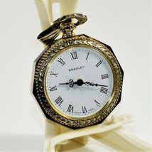 Vintage Working BRADLEY Ladies Swiss Wind-Up Pendant Necklace Pocket Watch - $44.55