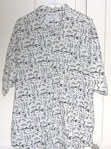 Columbia Mens 2XL Embroidered 100% Cotton Button Front Short Sleeve Grap... - $17.96