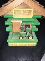 John Deere Log Cabin Light Up Handcrafted - $148.50