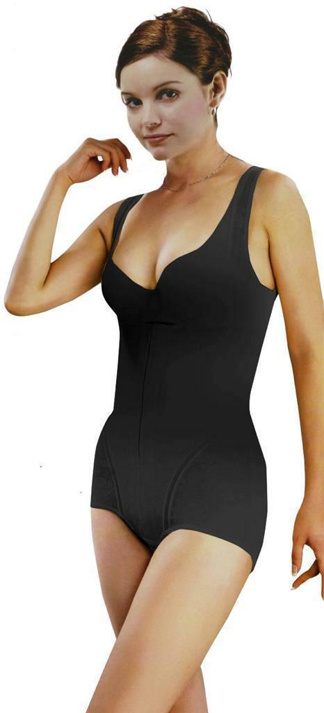 NEW WOMEN'S UNIQUE ORIGINAL CLASSIC SLIMMING BODYSUIT SHAPEWEAR BLACK STYLE #007
