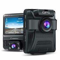 Uber Dual Lens Dash Cam Built-in GPS in Car Dashboard Camera Crosstour 1... - $118.78