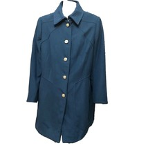 Jessica Simpson Womens Teal Blue Button-Down Collared Coat Overcoat Sz 1... - $23.76