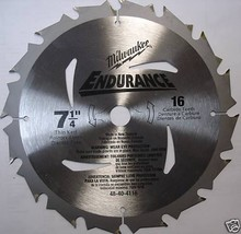 """Milwaukee 48-40-4116 Bulk 7-1/4"""" x 16T Carbide Saw Blade - $2.97"""