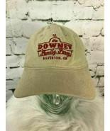 The Downey Family Farm Mens One Sz Hat Sandy Brown Strapback Cotton Ball... - $7.91